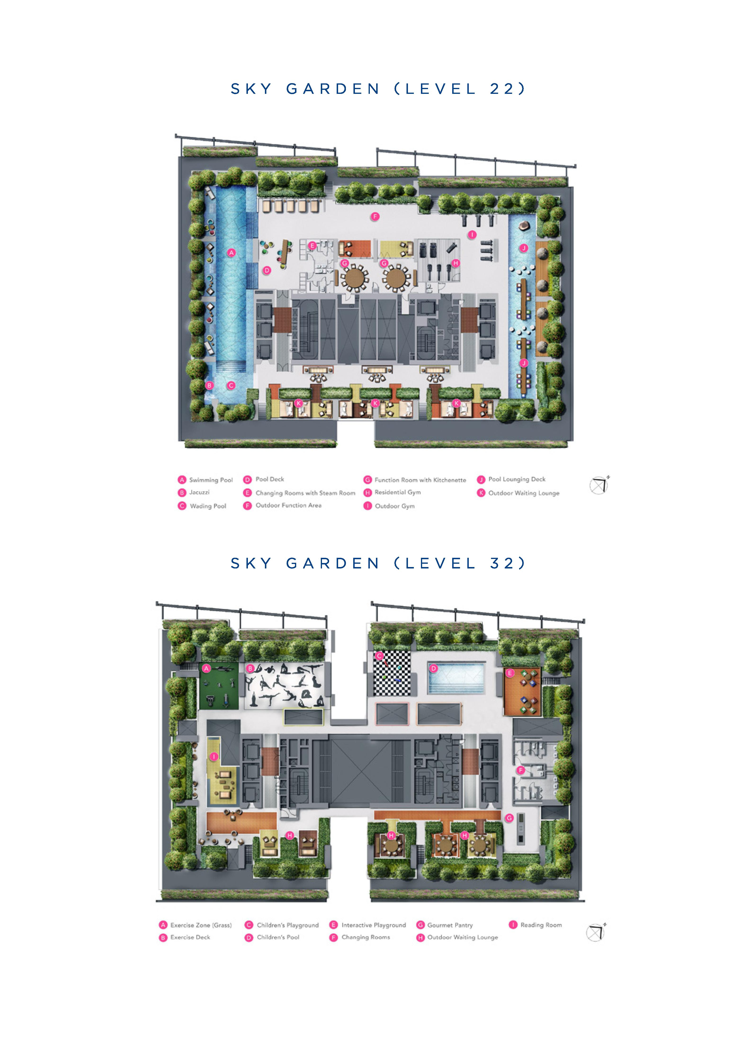 South Beach Residences Level 22 & 32 Site Map